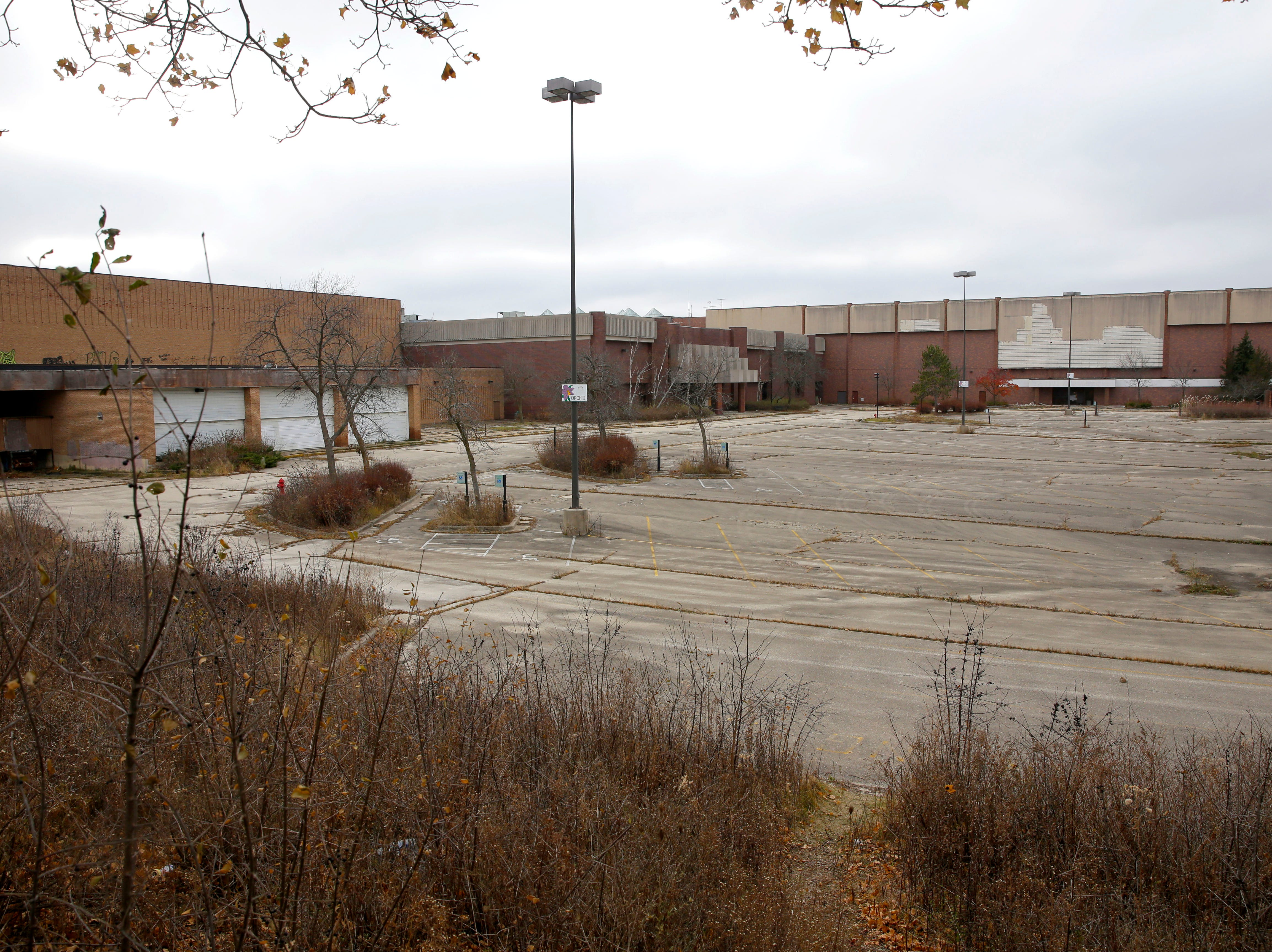 November 2017: Empty lots surround Milwaukee's former Northridge Mall on W. Brown Deer Road.