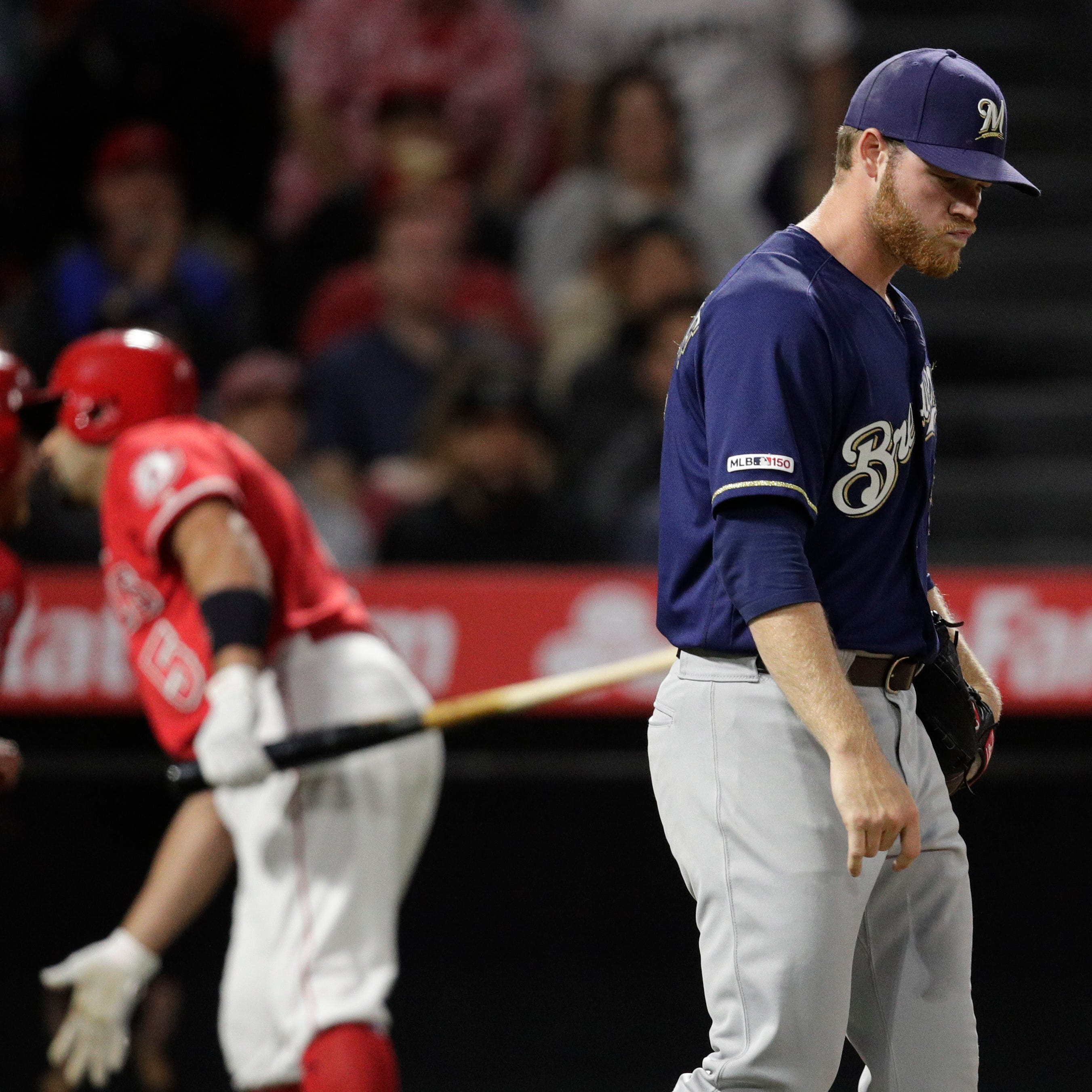Angels 4, Brewers 2: Rough inning too much to overcome as Brewers suffer first sweep in months