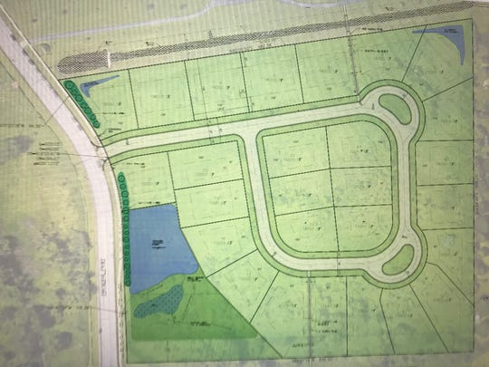 A rendering shows Veridian Homes' proposed 27-lot subdivision south of Kinderberg Park that the Village of Germantown Plan Commission rejected at its April 8 meeting.