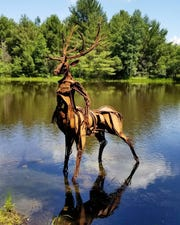 Deer Sculpture in Stevens Ppark