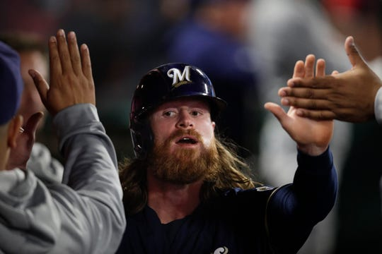Brewers backup outfielder Ben Gamel has played in 20 games this season.