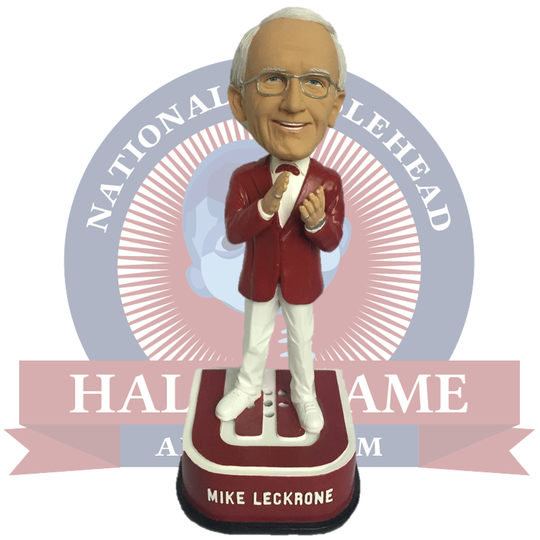 A 2019 limited-edition Mike Leckrone bobblehead is being sold by the National Bobblehead Hall of Fame and Museum.