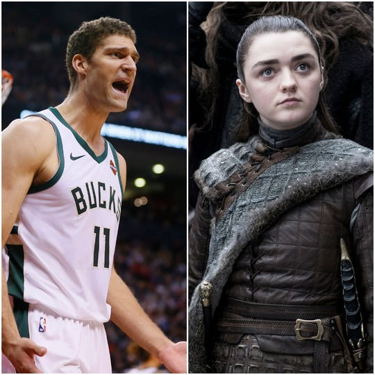 Brook Lopez and Arya Stark