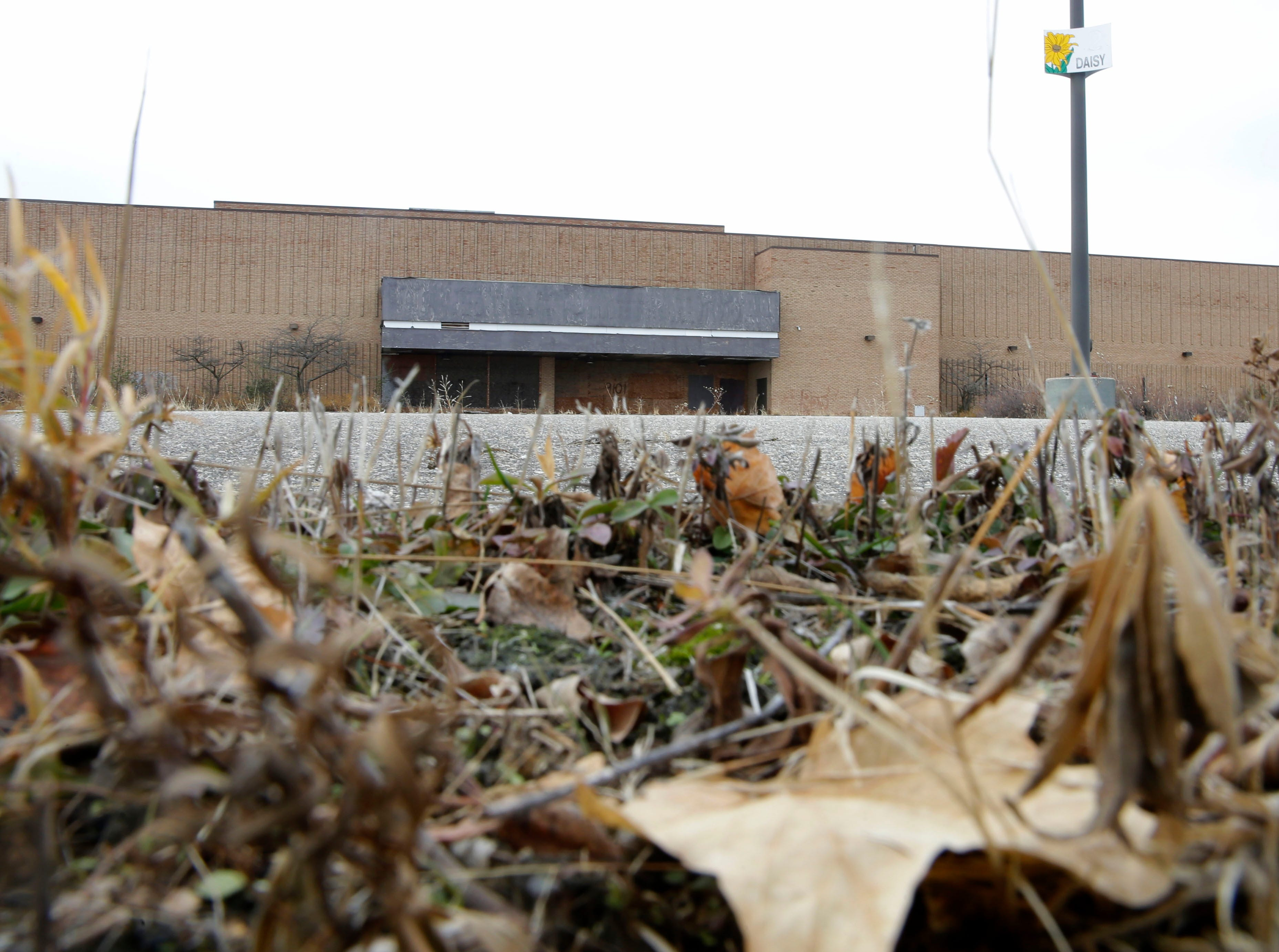 November 2017: Weeds grow in the empty parking lot of Milwaukee's former Northridge Mall on W. Brown Deer Road.