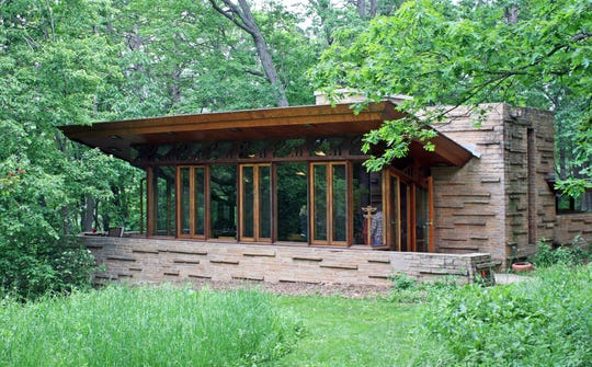 The Seth Peterson cottage in Mirror Lake State Park was designed by Frank Lloyd Wright and is available to rent for overnight stays.