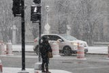 A early spring storm brought snow to Milwaukee two days after temperatures reached 68 degrees.