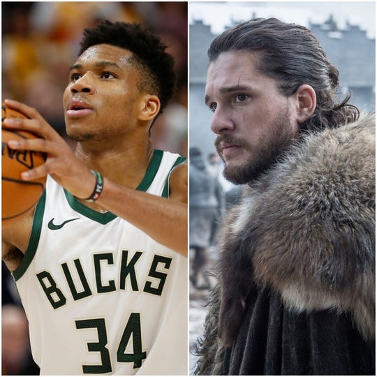 Giannis Antetokounmpo and Jon Snow