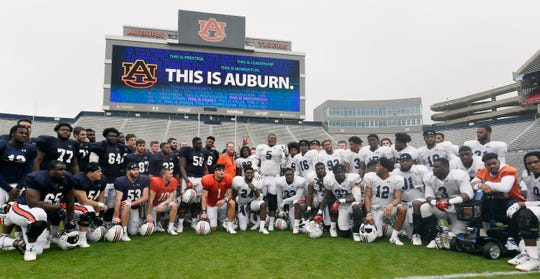 Auburn football practice on Saturday, April 6, 2019 in Auburn, Ala.