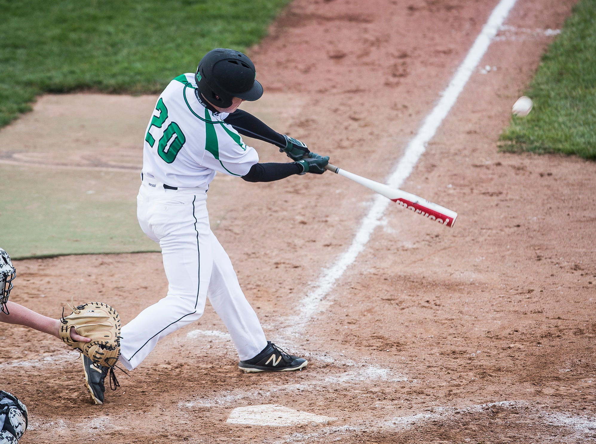Yorktown defeated Monroe Central 9-2 during their game at Yorktown High School Wednesday, April 10, 2019.