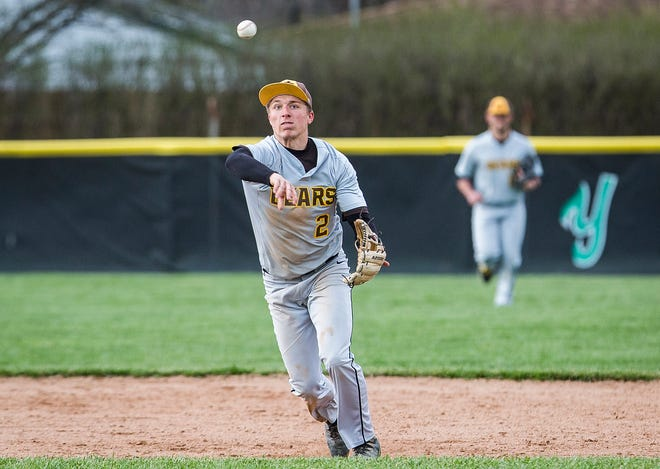 FILE -- Monroe Central's Seth Wilson scored two runs Wednesday against Wes-Del.