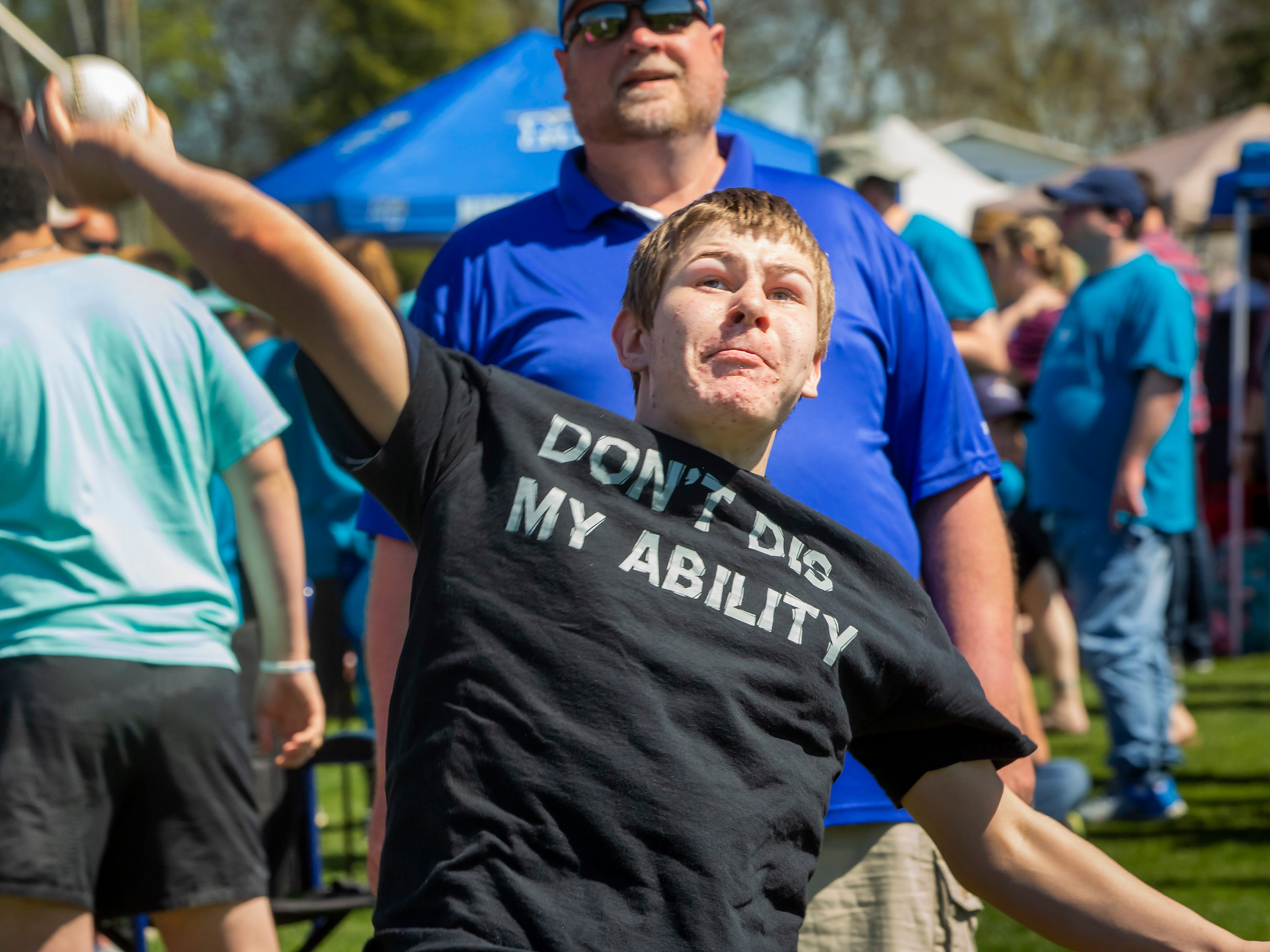 The Area 16 Special Olympics track and field meet was held Wednesday, April 10, 2019 at MTSU's Dean A. Hayes Track and Soccer Stadium.