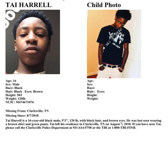 Authorities say Tai Harrell escaped from custody Thursday. He should be considered armed and dangerous.