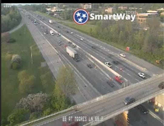 TDOT crews have closed lanes on I-65 in both directions to complete repairs on the Moores Lane bridge.