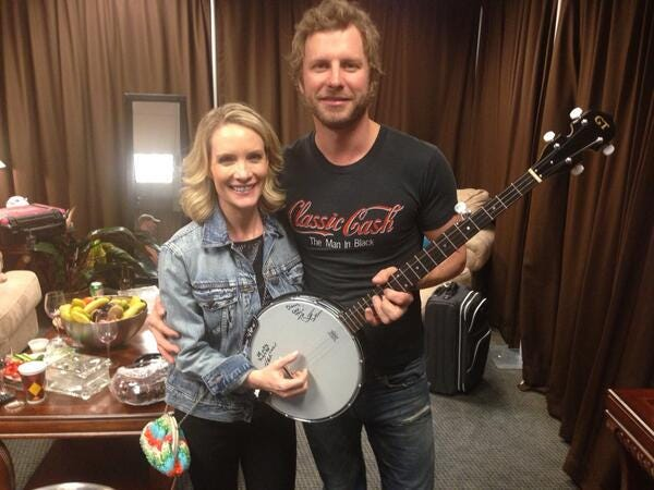 Fox News Channel personality Dana Perino with country singer Dierks Bentley