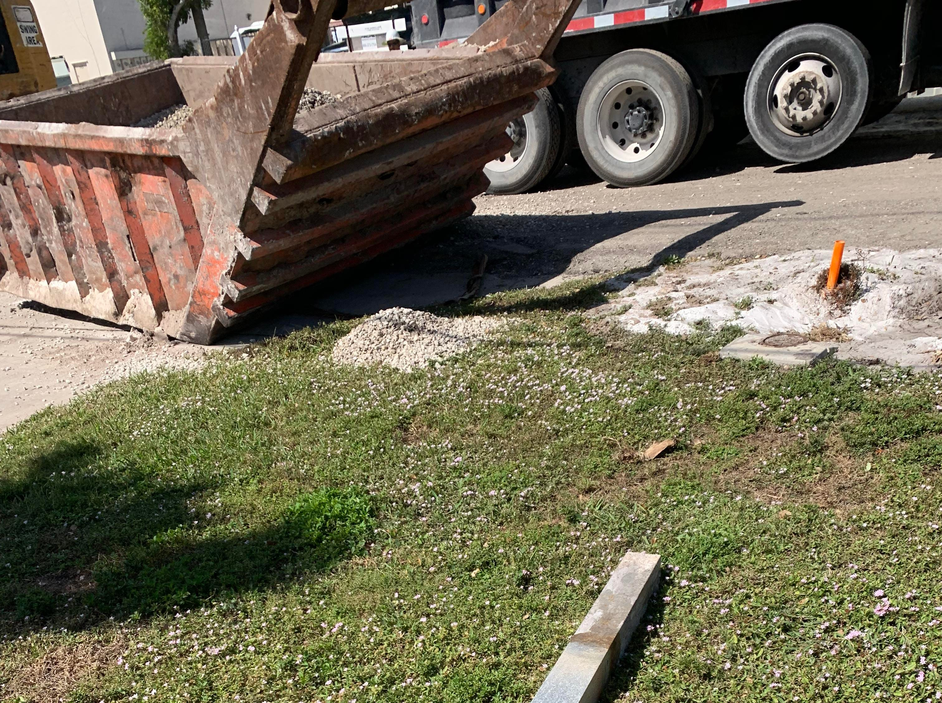 Naples resident Aurora Wells said construction workers knocked over her mailbox during a sanitary sewer system project on Cooper Drive in Naples earlier this year. The Naples City Council voted in October to convert all homes in the city's utilities service district from septic tanks to city sewer.