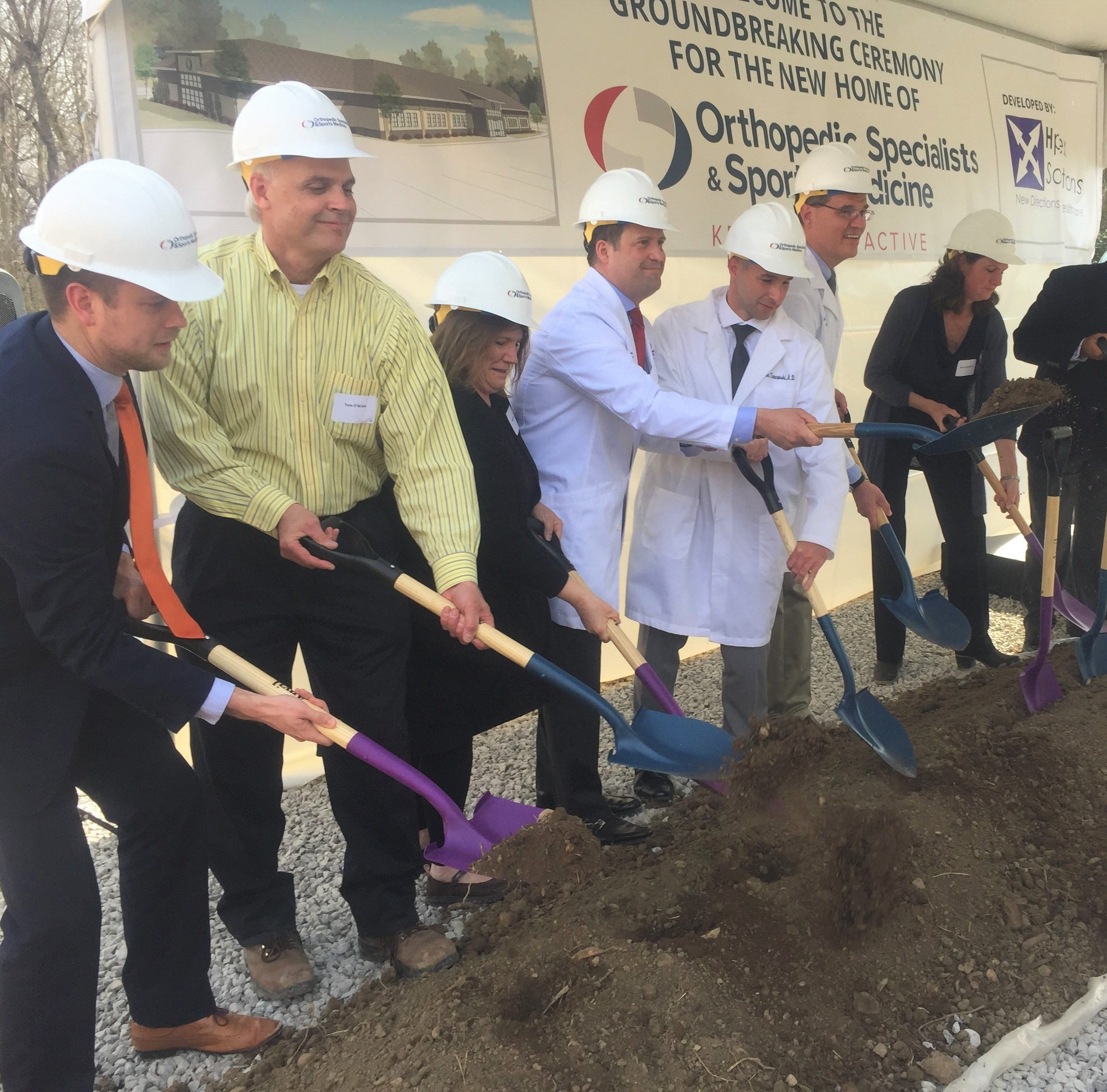 Ceremony heralds construction of Granville's new sports medicine building