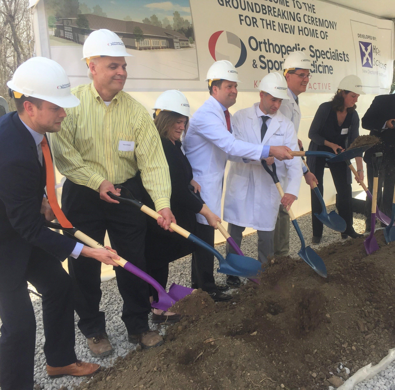 Ceremony heralds construction of Granville's new sports medicine building