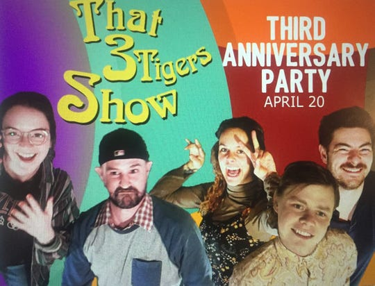 """The Three Tigers """"That 70s Show"""" inspired anniversary banner."""