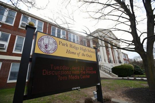 The exterior of Park Ridge High School in Park Ridge on Thursday April 11, 2019.