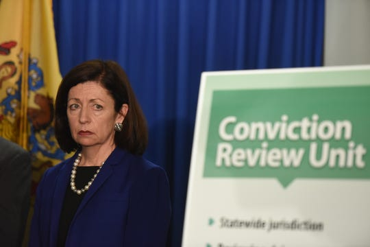 NJ Attorney General Gurbir Grewal announced the creation of a statewide conviction review unit and statewide cold case network during a press conference at the Hughes Justice Complex in Trenton on April, 11, 2019. Judge Carolyn Murray, pictured, was named director of the conviction review unit.