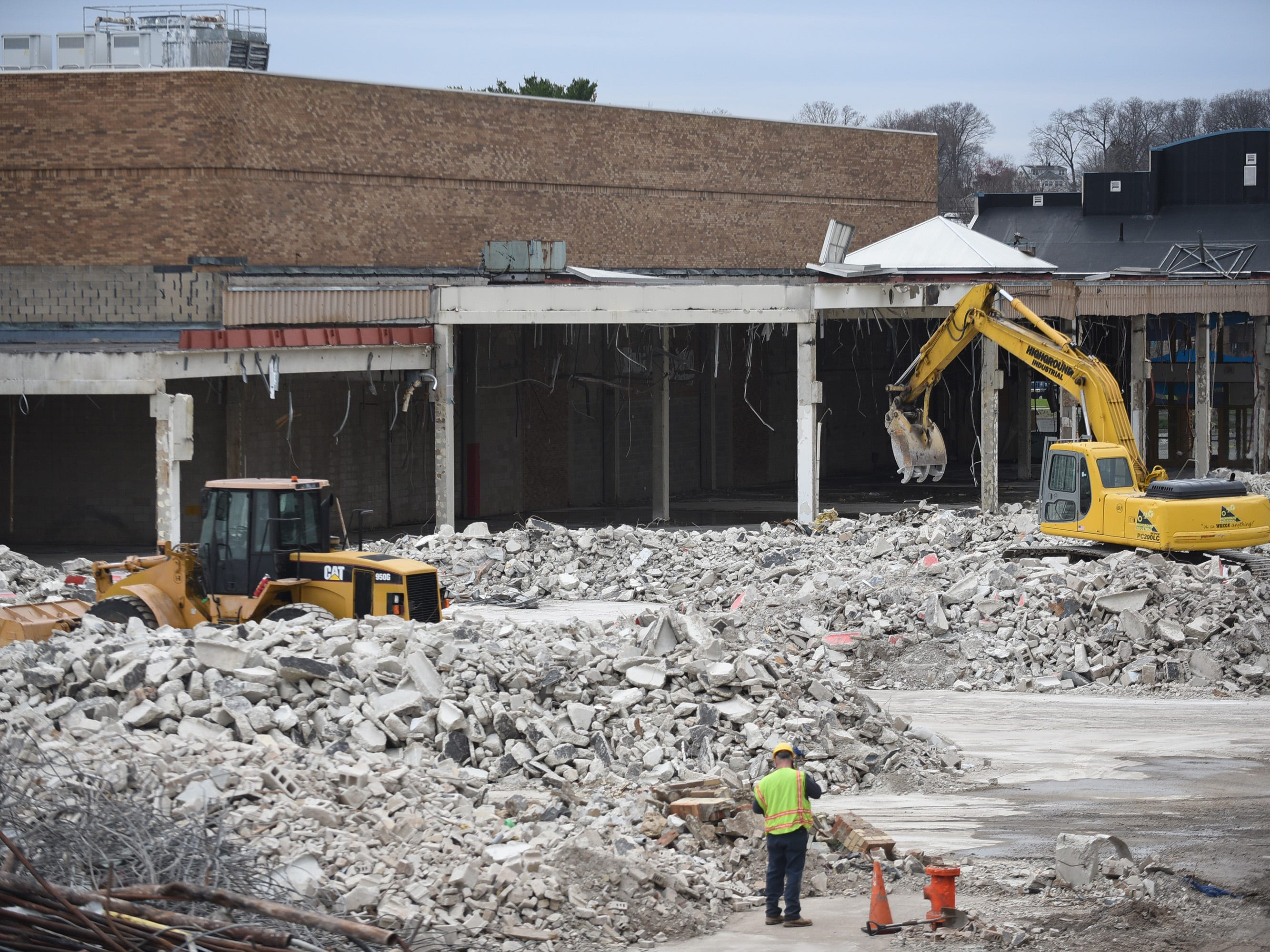 Photo of the final demolition of the Wayne Hills Mall, photographed in Wayne on April 11, 2019.