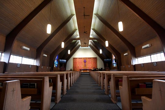 The sanctuary inside St. Michael's Episcopal Church in Wayne, NJ on Thursday, April 11, 2019.