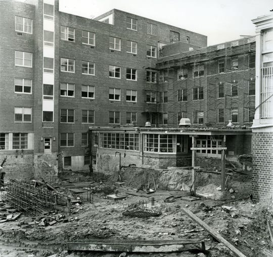 This area seen on June 11, 1964 was set to become the main entrance to Englewood Hospital after the expansion program was completed.
