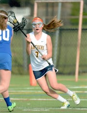 Junior Lexi Robinson has 104 career goals. She scored her 100th in a 12-7 road loss to Montville last week, one of four in the game.