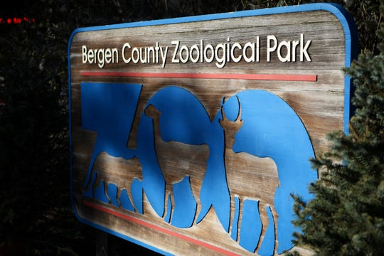 The Bergen County Zoo sign in Paramus on Wednesday April 10, 2019.