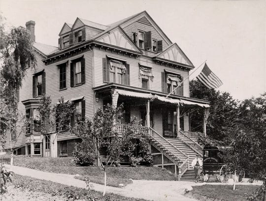 The original Hackensack Hospital, seen in 1890, was a 10-room home.