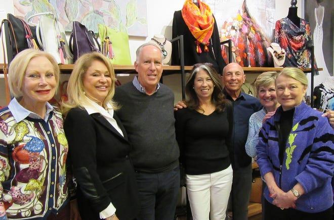 From left: Meredith Bettencourt, Jane La Pado, Wells Marvin, Gerri Katz, Brian Currie, Sue Smith and Dee Gaynor.