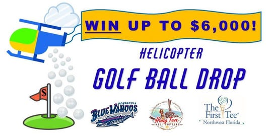 The flyer for Sunday's Golf Ball Drop at Blue Wahoos Stadium in Pensacola.