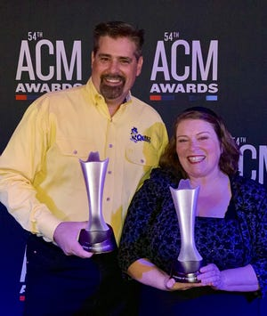 In an Academy of Country Music Awards ceremony in Las Vegas on Saturday night, CatCountry 98.7's morning duo Brent & Candy were awarded Personalities of the Year for their Cat Pak Morning Show.This is the second Personality of the Year award for Lane, whofirst won the awardin 2009.