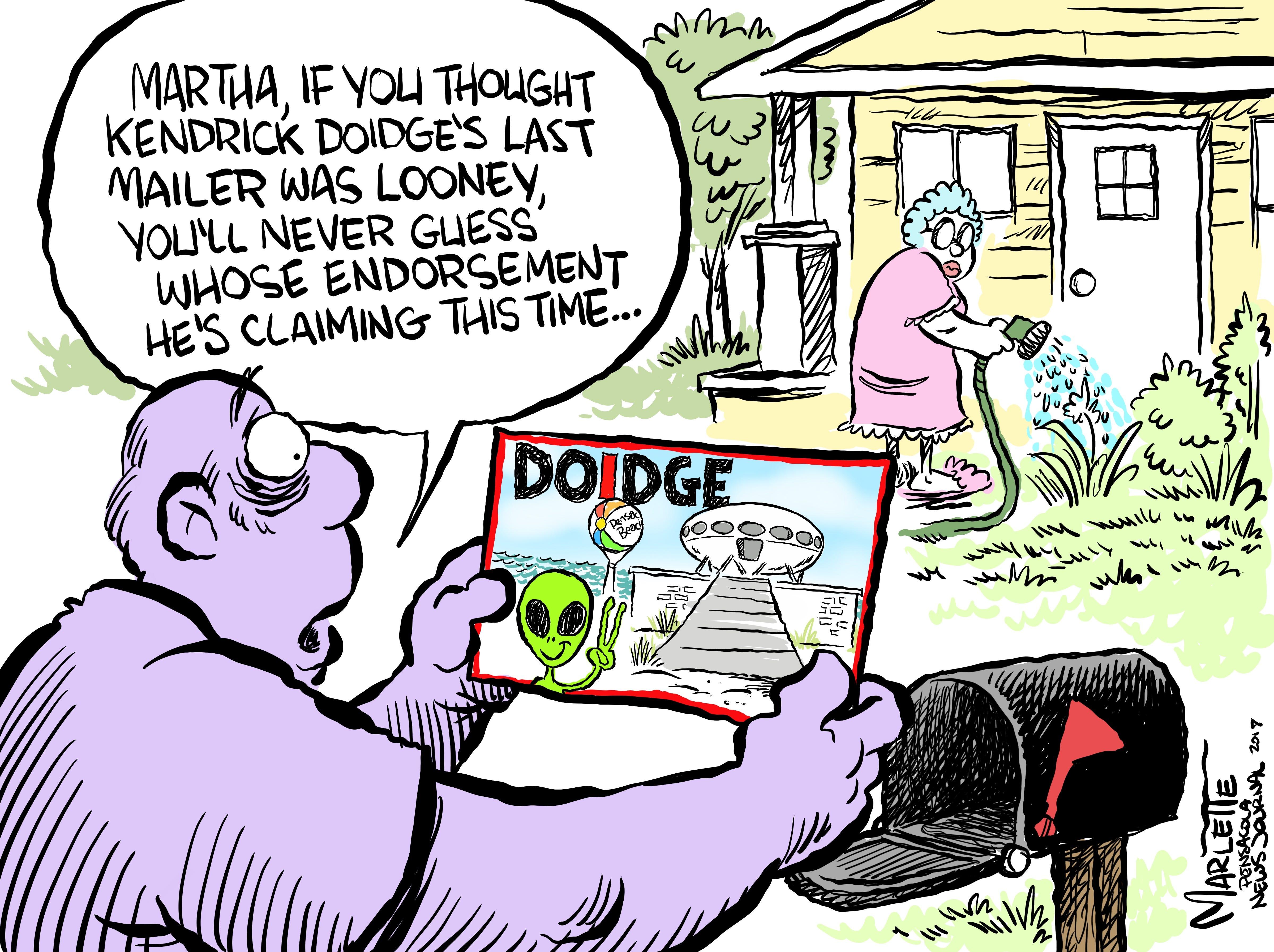 Cartoons about Escambia County cray-cray!
