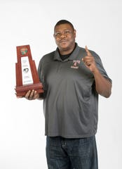 2019- Winter-PNJ All-Area Coach - Boys basketball Coach of the Year - Clyde Abney of Tate High School - portrait in Pensacola on Thursday, April 11, 2019.