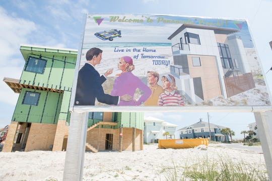 A house under construction in Pensacola Beach is pictured Thursday. As the wording of beach leases has changed through the decades, it has created a hodgepodge of guidelines for properties dating to when a lease was last modified.