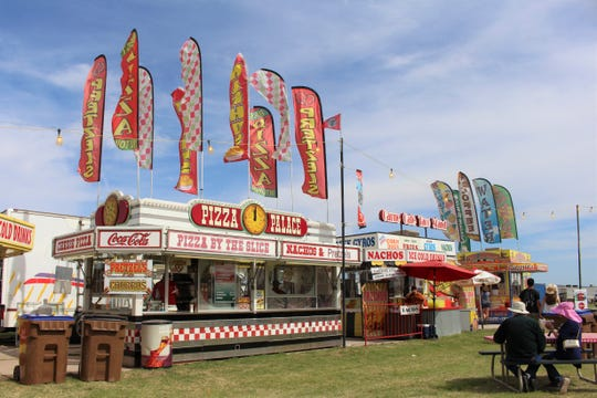 The food court at Country Thunder Arizona 2019 offers plenty of options including pizza, tacos and deep-fried burritos.