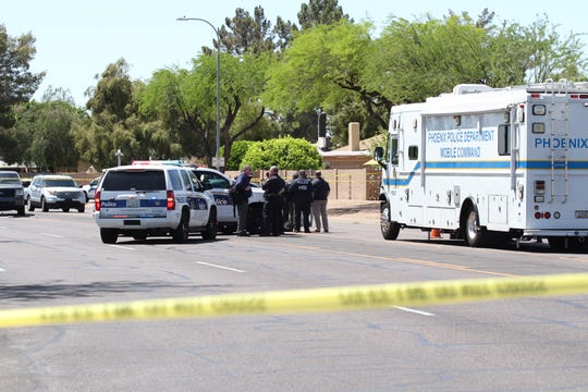 Authorities are investigating a reported shooting involving federal agents on April 11, 2019, in Ahwatukee.