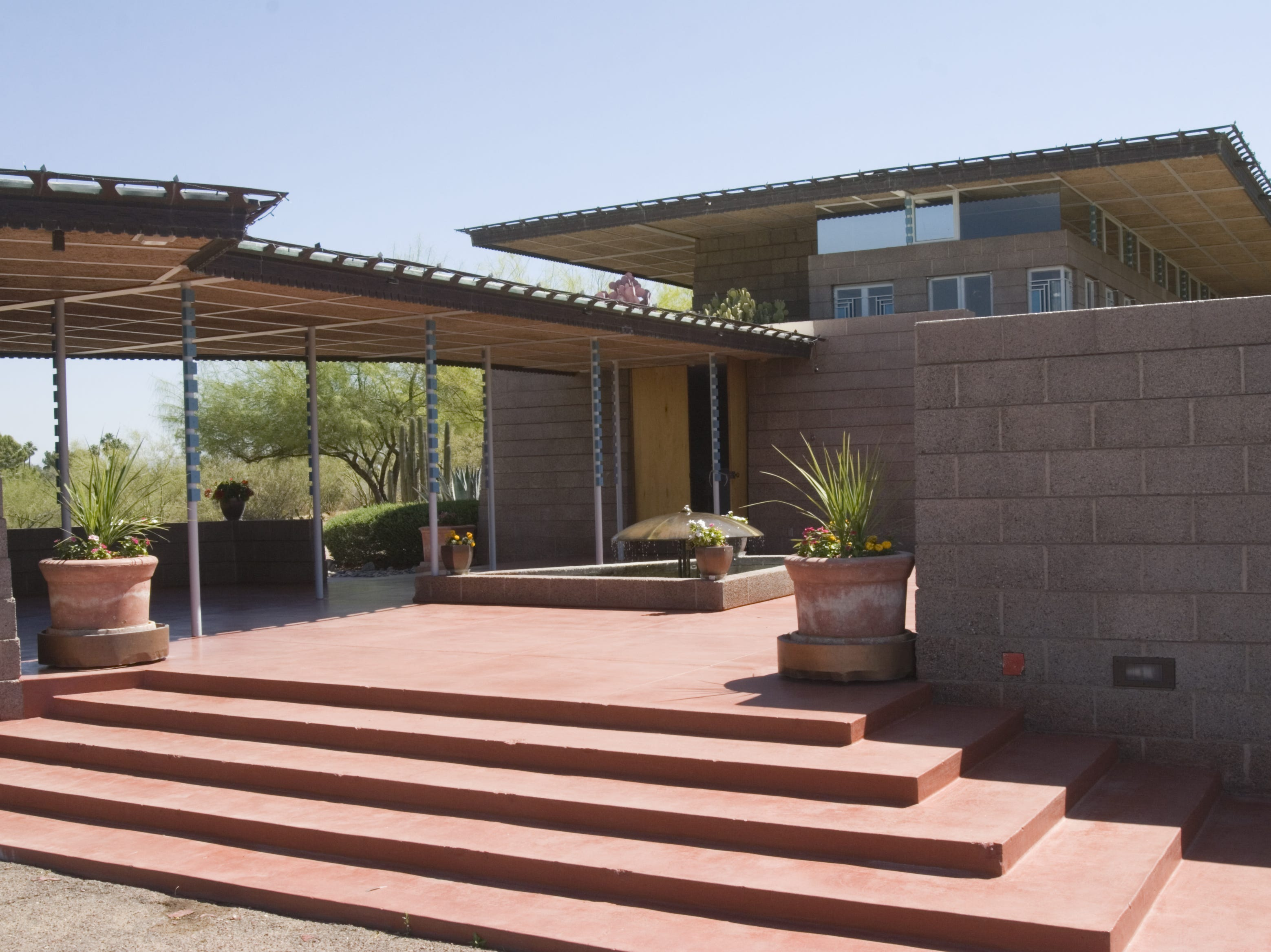 The Price House in Paradise Valley was designed by Frank Lloyd Wright.