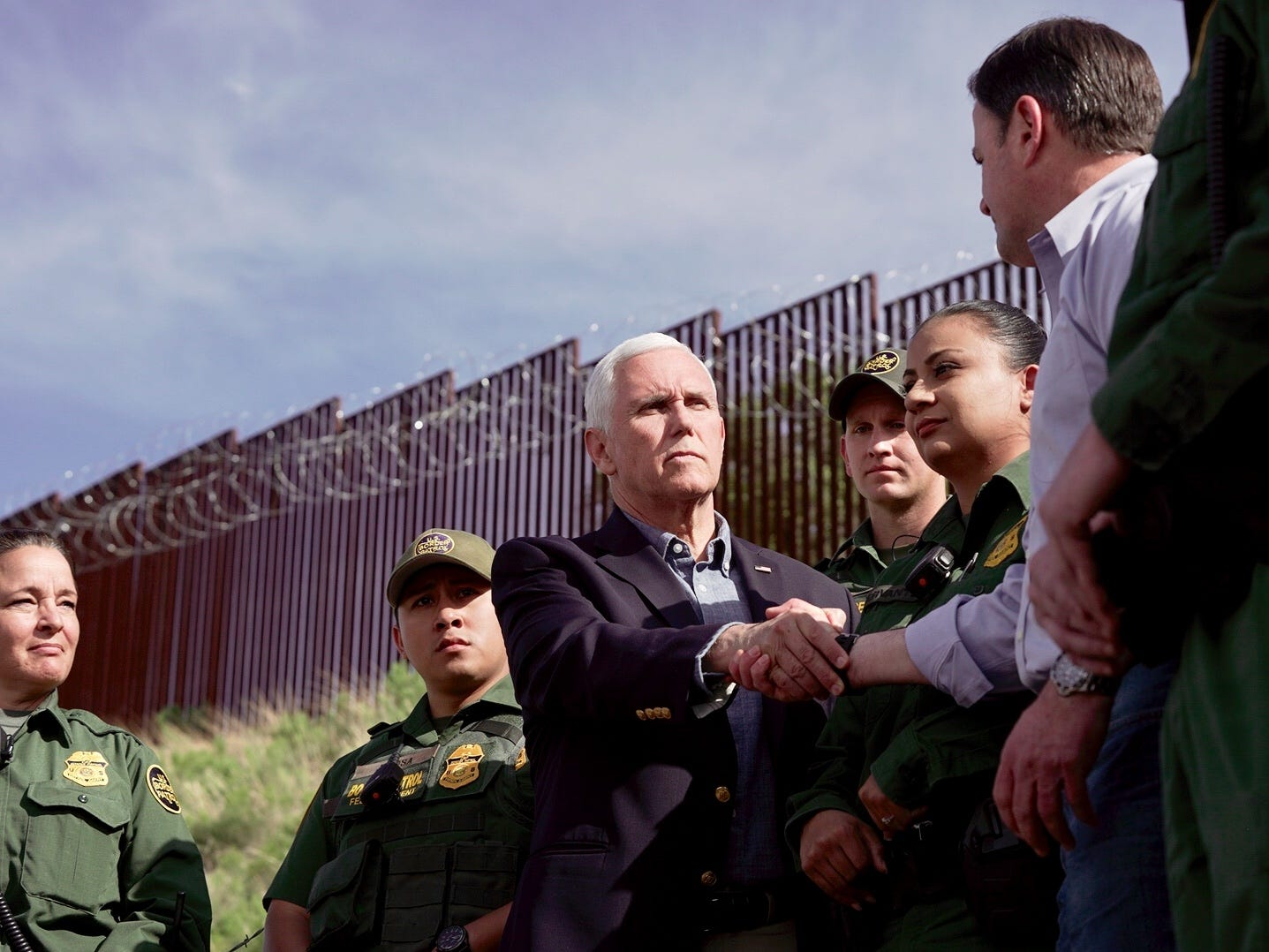 Vice President Mike Pence on Thursday is making his second visit to Arizona in two months. Pence met with border officials and toured sections of the border fence in Nogales. He was joined by Arizona Gov. Doug Ducey.