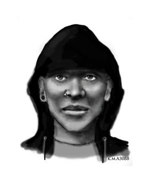 Police sketch of suspect that tried to kidnap an 11-year-old schoolgirl on April 3, 2019.