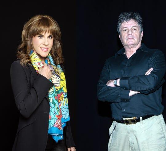 Rebecca Jones y Alejandro Camacho.