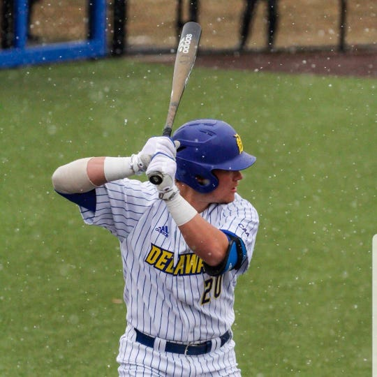 Cedar Crest grad Joseph Carpenter has been swinging a hot bat in his freshman season with the University of Delaware baseball team.