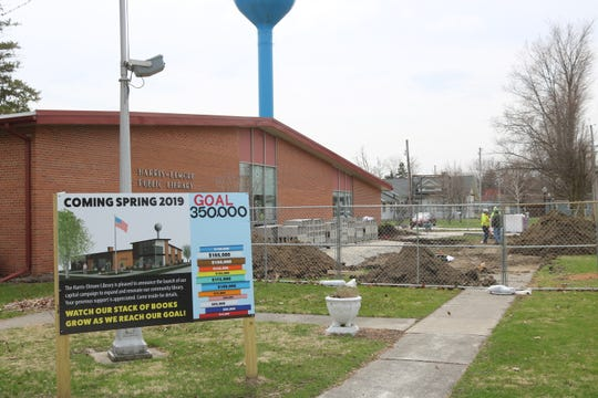 The Harris-Elmore Public Library broke ground on their 1,400-square-foot expansion being added to the northwest end of the building.