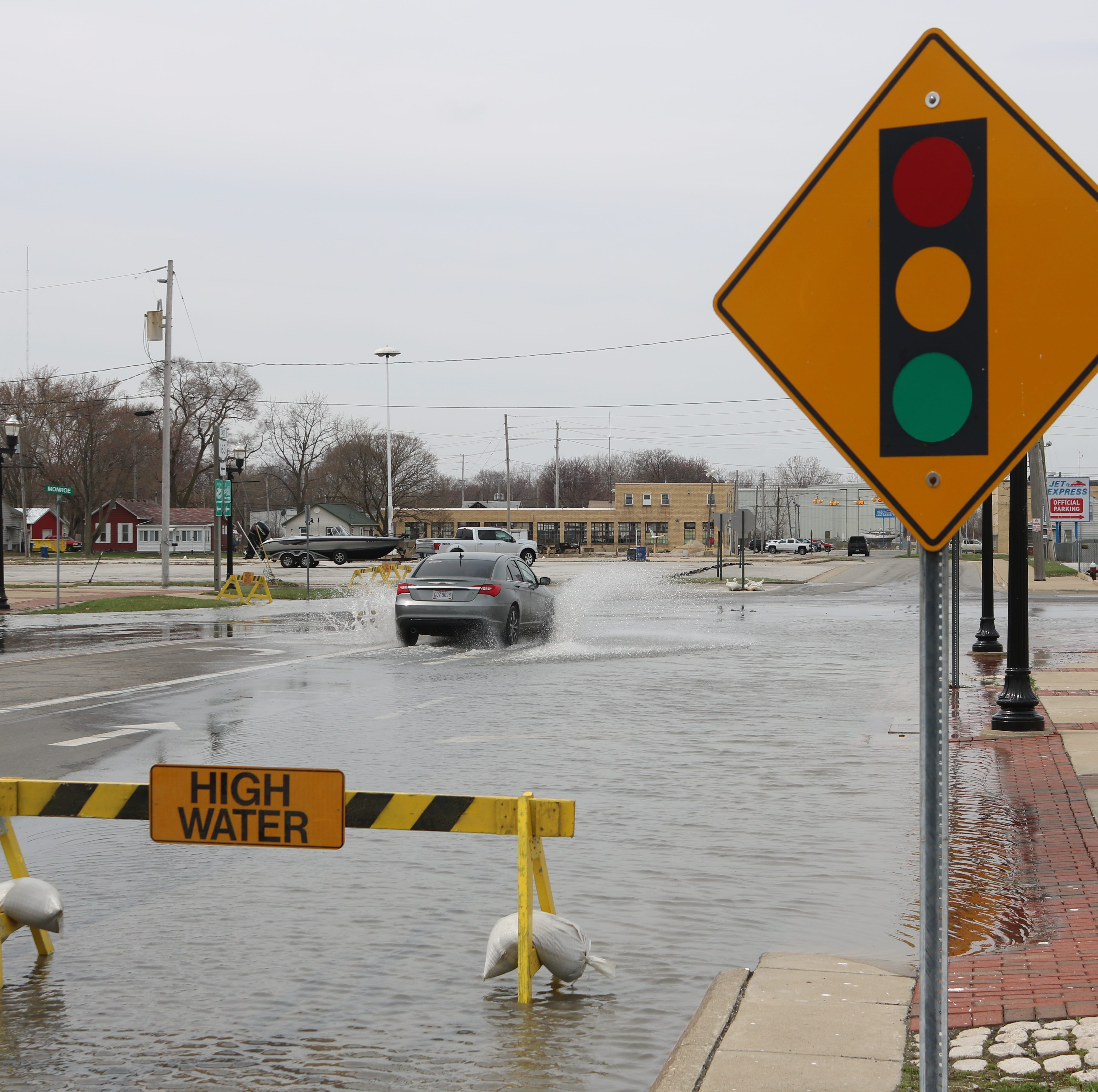 High water, flooding leads to road closures