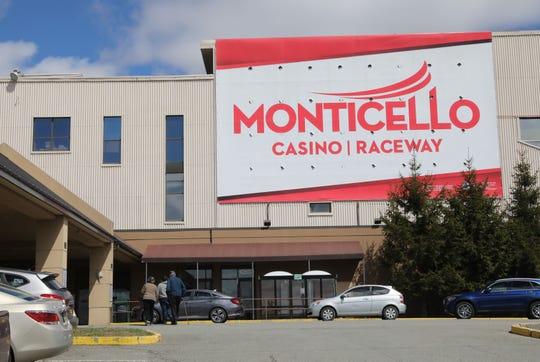 The exterior of the Monticello Casino Raceway in Monticello, April 10, 2019.