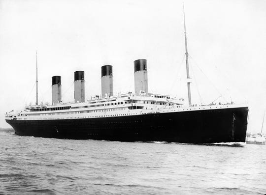 """The RMS Titanic is shown at sea. """"Tales of the Titanic,"""" a series of special tours at Staatsburgh State Historic Site, starts April 13, showcasing the influence the mansion had on the opulent design of the steamship that sank during its maiden voyage in 1912."""