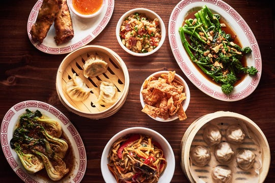 A selection of food and drinks from Lucky Dragon in Rhinebeck.