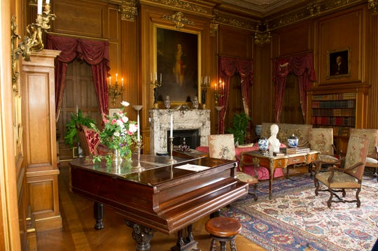 The library at Mills Mansion is one of many rooms that inspired the decor of the Titanic's staterooms. Special tours showcasing the history of the steamship and its ties to the Mills family start April 13.