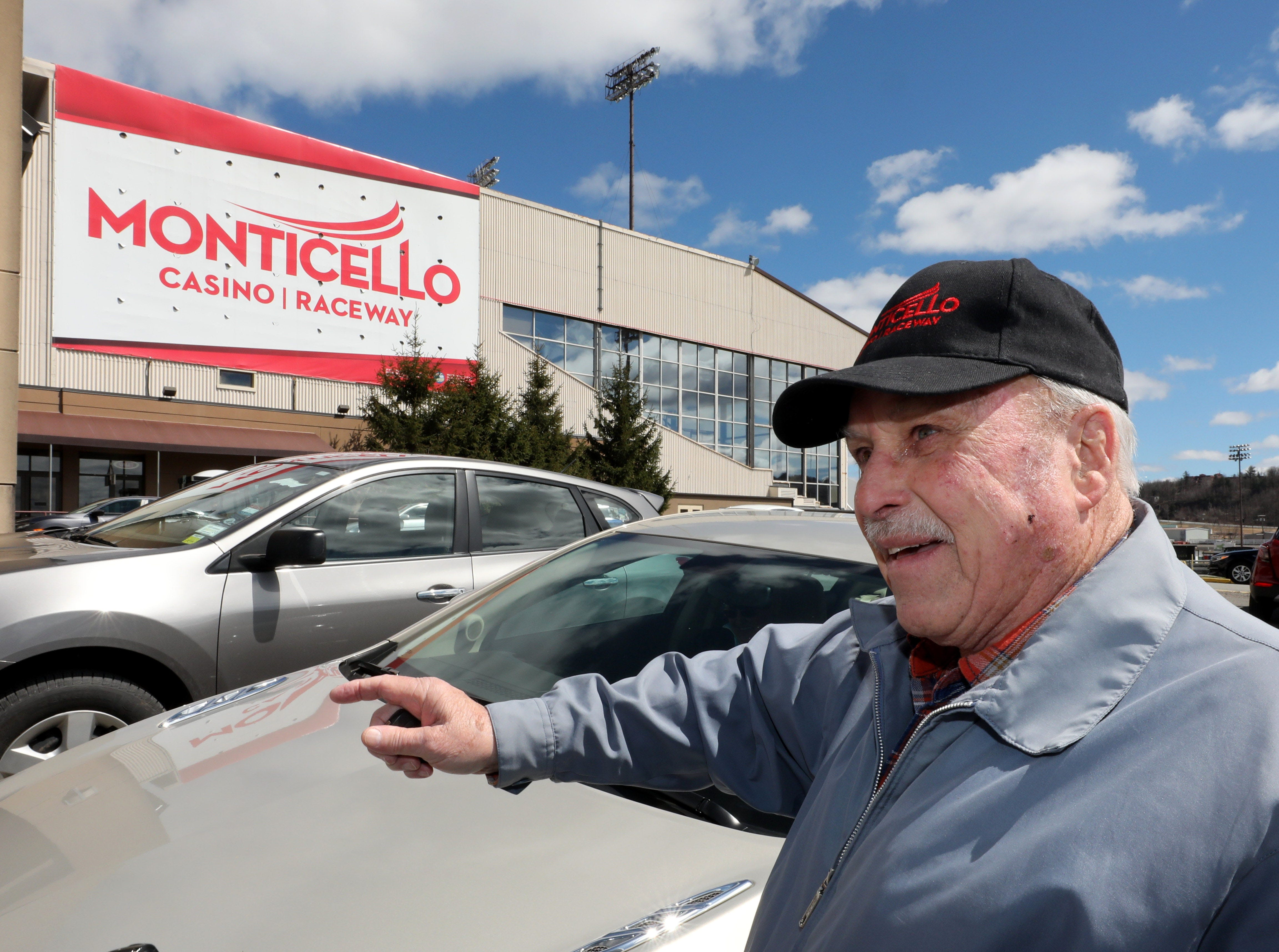 Hunter Rhinesmith talks about the imminent closing of the casino, at the Monticello Casino Raceway in Monticello, April 10, 2019.